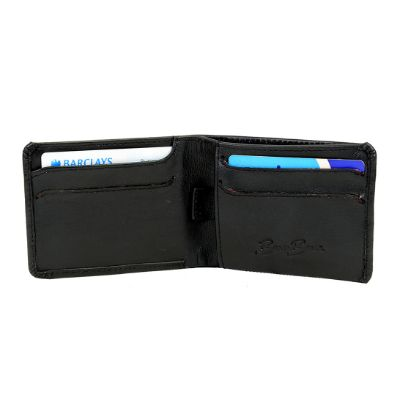 MATEO BLACK - Classic Small Full Leather Wallet