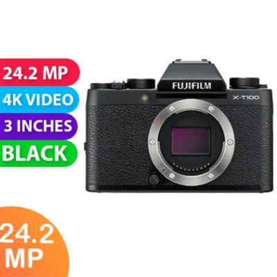 New Fujifilm X-T100 24MP Digital Camera Body Only Black