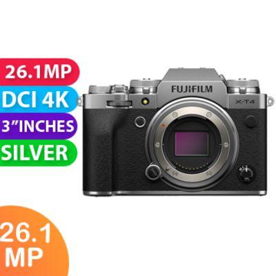 New Fujifilm X-T4 Mirrorless Camera Body Silver