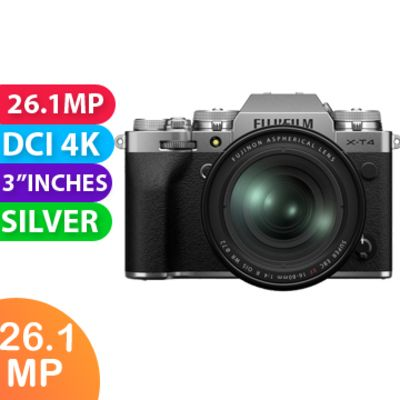 New Fujifilm X-T4 Mirrorless Camera Kit 16-80 Silver