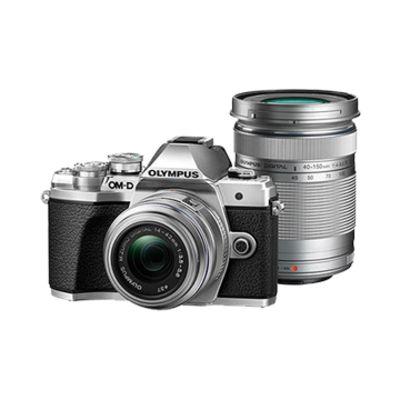 New Olympus E-M10 III TwinKit (14-42 EZ)(40-150) Digital Cameras Silver