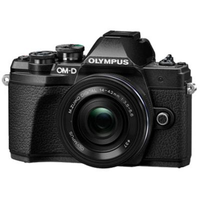 New Olympus OM-D E-M10 MK III (14-42 EZ) Digital Cameras Black
