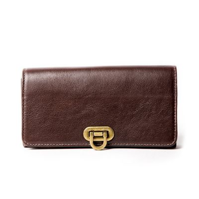 OLIVIA BROWN - Vintage Inspired Full Leather Purse