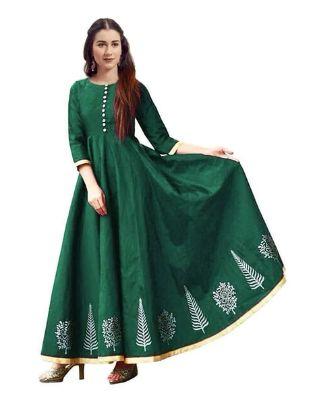 SAADHVI - Floral Print Gown Dress