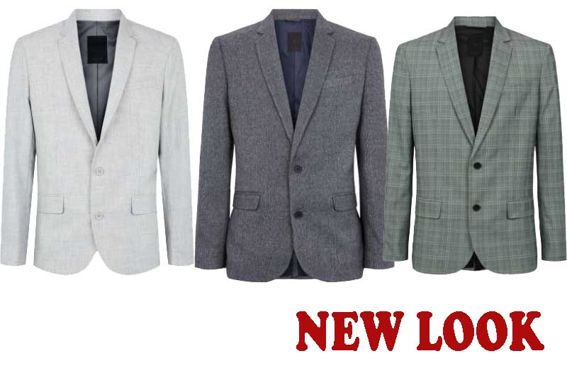 12 Best Selling Mens Suit Jackets from NEW LOOK