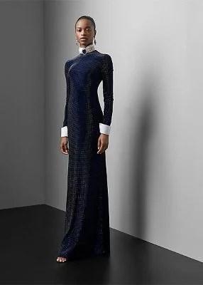 Blakely Velvet-Crystal Dress