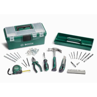 Bosch 73 Piece Home Tool Kit - Green