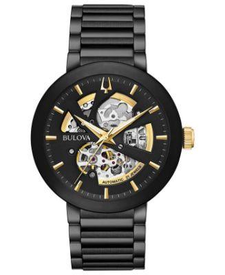 Bulova - Men's Futuro Black Stainless Steel Bracelet Watch 42mm