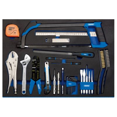 Draper Tool Kit In Full Plus Drawer EVA Insert Tray (36 Piece)