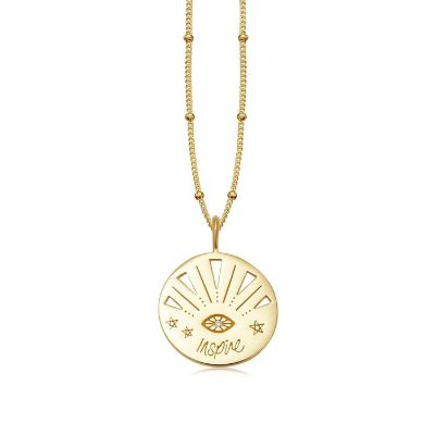 Gold inspire amulet necklace