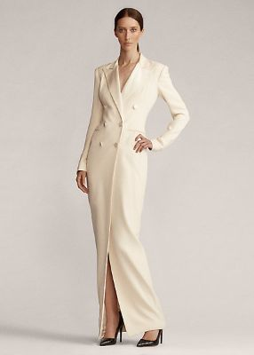 Kristian Silk Tuxedo Dress