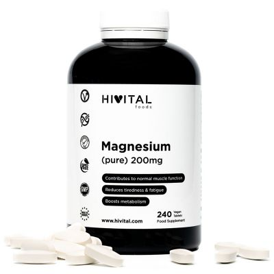 MAGNESIUM PURE 200MG FROM MAGNESIUM CITRATE | 240 VEGAN TABLETS