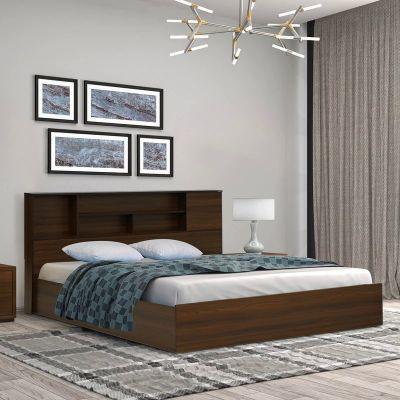 Nilkamal Mozart Queen Bed (Walnut)