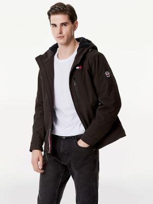 TOMMY HILFIGER - ESSENTIAL SHERPA HOODED SHELL JACKET