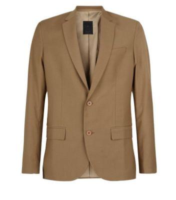 Tan Skinny Suit Jacket