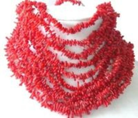 Wholesale 10 pcs. red branch coral necklace
