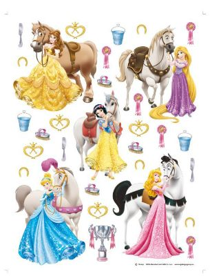 31 Giant Horses and Disney Princess Stickers