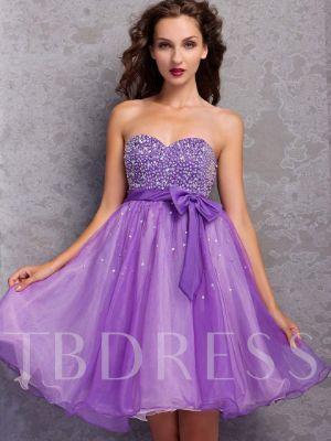 A-Line Mini-Length Sweetheart Miriama's Prom / Homecoming Dress