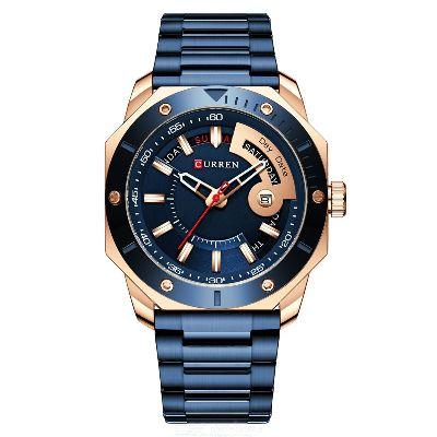 Curren 8344 Wristwatch For Men Waterproof Quartz Watch Business Stainless Steel Strap Watch With Luminous Display