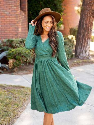 The Isla Dress - Green