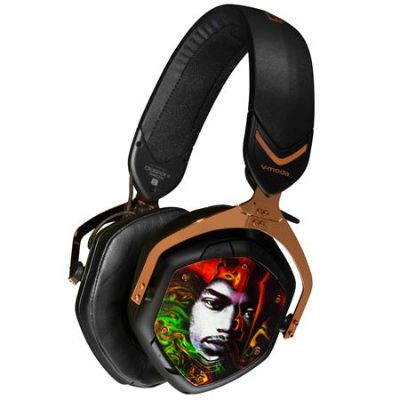 V-MODA Crossfade 2 Wireless Over-Ear Headphones with Jimi Hendrix Image and Signature