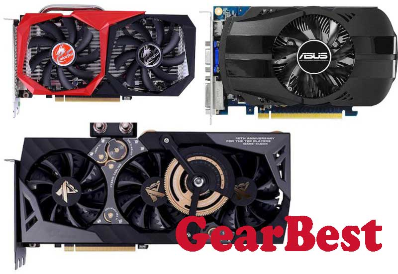 18 Best Selling Graphics Cards from GearBest