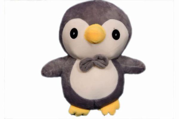 Cute Grey Penguin Toy