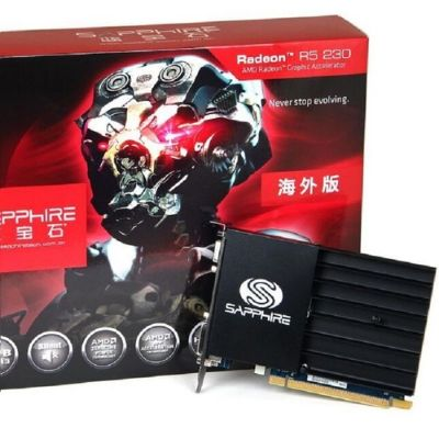 Sapphire R5 230 Graphics Card For Gaming 1066MHz 64Bit Desktop PC Video Card Discrete DVI VGA HDMI - Black