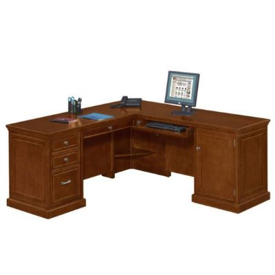 Statesman Compact L-Shaped Desk Left or Right Return
