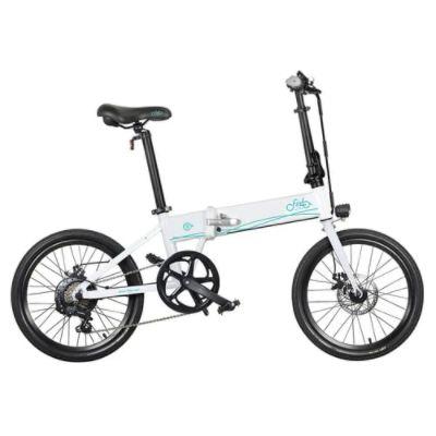 FIIDO D4S Folding Moped Electric Bike Shimano 6-speed Gear Shifting City Bike Commuter Bike 20-inch Tires 250W Motor Max 25km/h 10.4Ah Battery up to 80KM Mileage Range - White