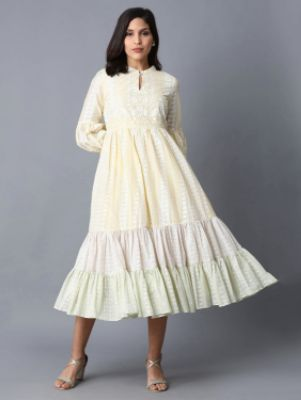 Embroidered Tiered Dress 2