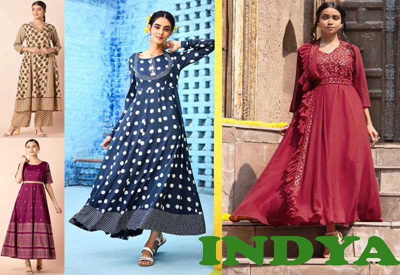 11 Best Selling Anarkali Tunics from INDYA
