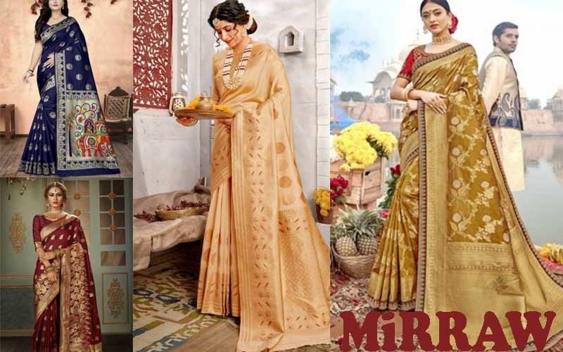 17 Best Selling Banarasi Silk Sarees from MiRRAW