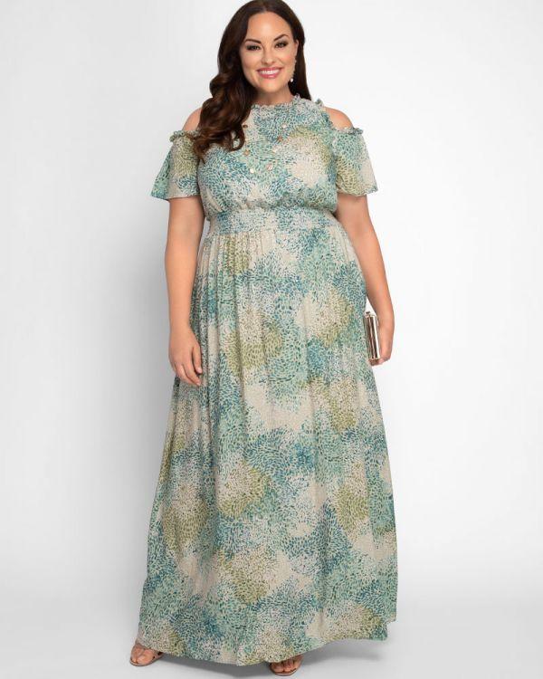 Athena Cold Shoulder Maxi Dress - Sale