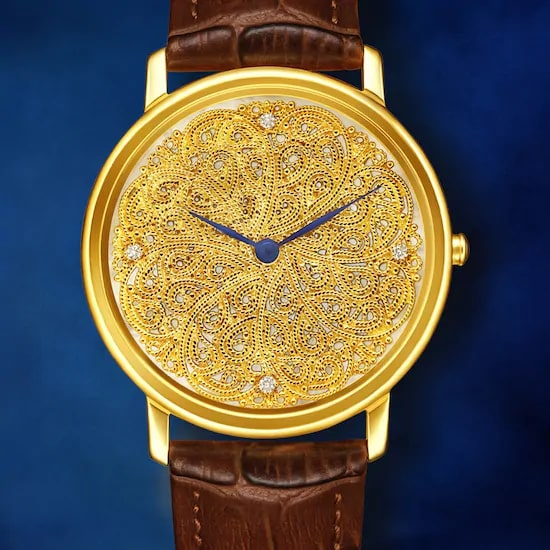 Filigree by Nebula - 18 Karat Solid Gold Analog Watch 2