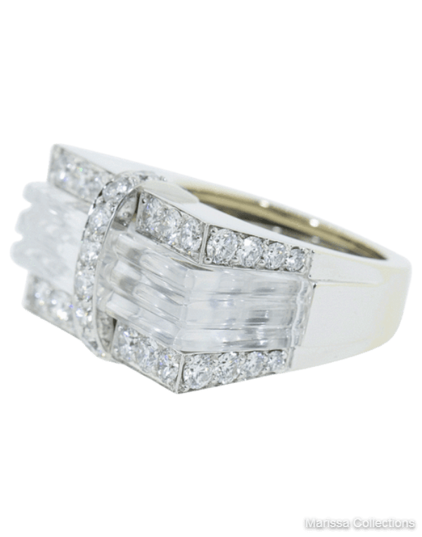 DAVID WEBB - White Tuxedo Ring