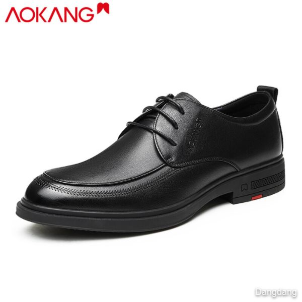 Aokang leather shoes men's spring and autumn business suits leather shoes England all-match men's