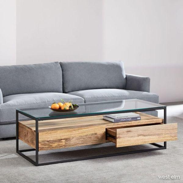 Box Frame Storage Coffee Table - Large