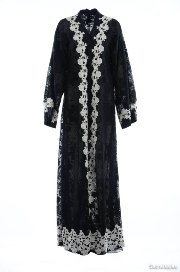 Dolce & Gabbana Women Embroidery Lace Abaya