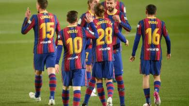 برشلونة يتجاوز عقبة خيتافي بانتصار عريض