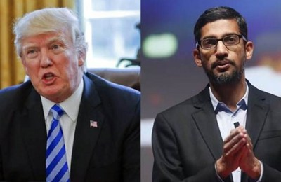Trump, Google CEO, US, Chinese military