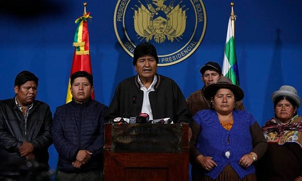 Bolivia, president, resigns, Evo Morales, security forces