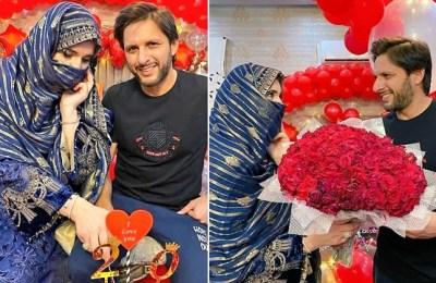 Shahid Afridi, wedding anniversary