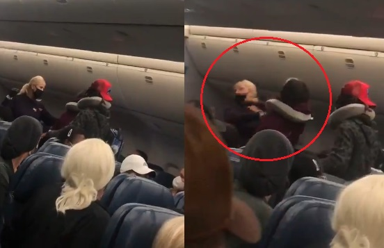Flight attendant, Delta Airlines, anti mask passenger