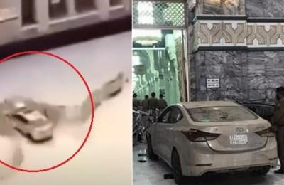 Saudi Arabia, driver, car, Masjid-e-Haram, exterior door