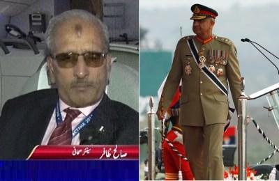 Saleh Zaafir, Qamar Javed Bajwa, army chief