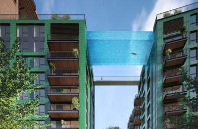 Transparent pool London, high-rises, Transparent pool London