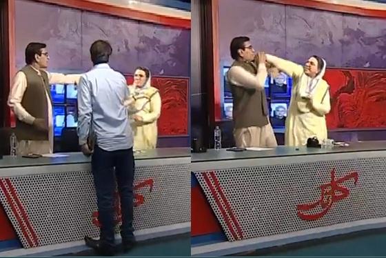 Firdous Ashiq Awan, slaps, MNA Qadir Khan Mandokhail, TV show