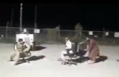 Taliban, office chair, Taliban dodgem chair