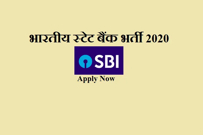 sbi clerk job 2020
